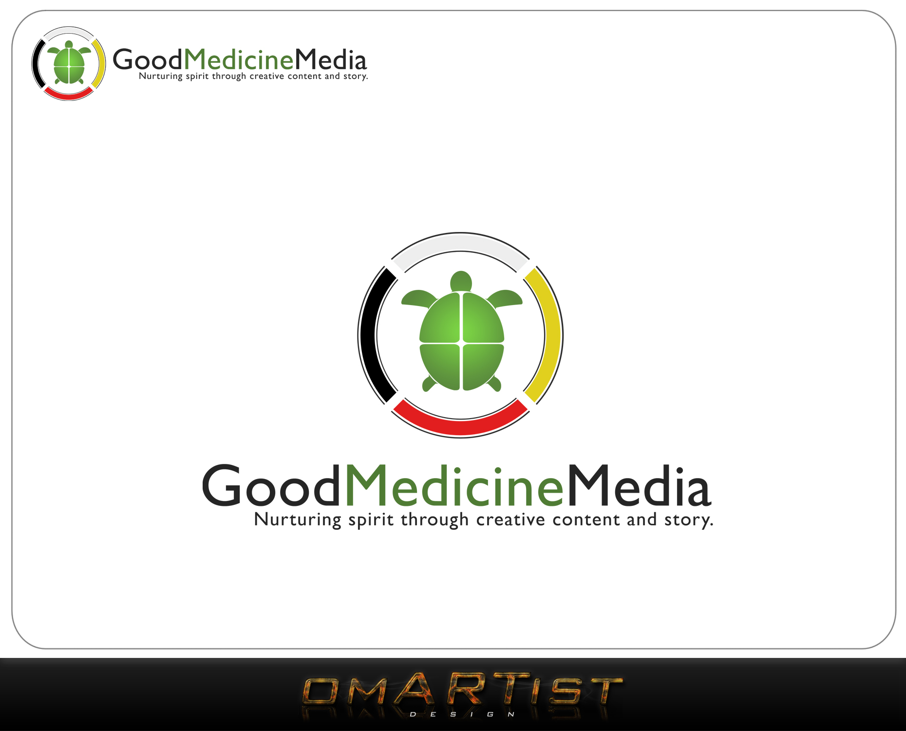 Logo Design by omARTist - Entry No. 189 in the Logo Design Contest Good Medicine Media Logo Design.