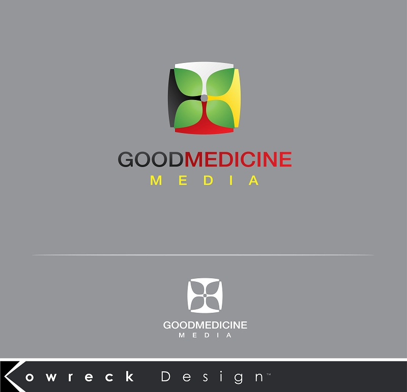 Logo Design by kowreck - Entry No. 190 in the Logo Design Contest Good Medicine Media Logo Design.