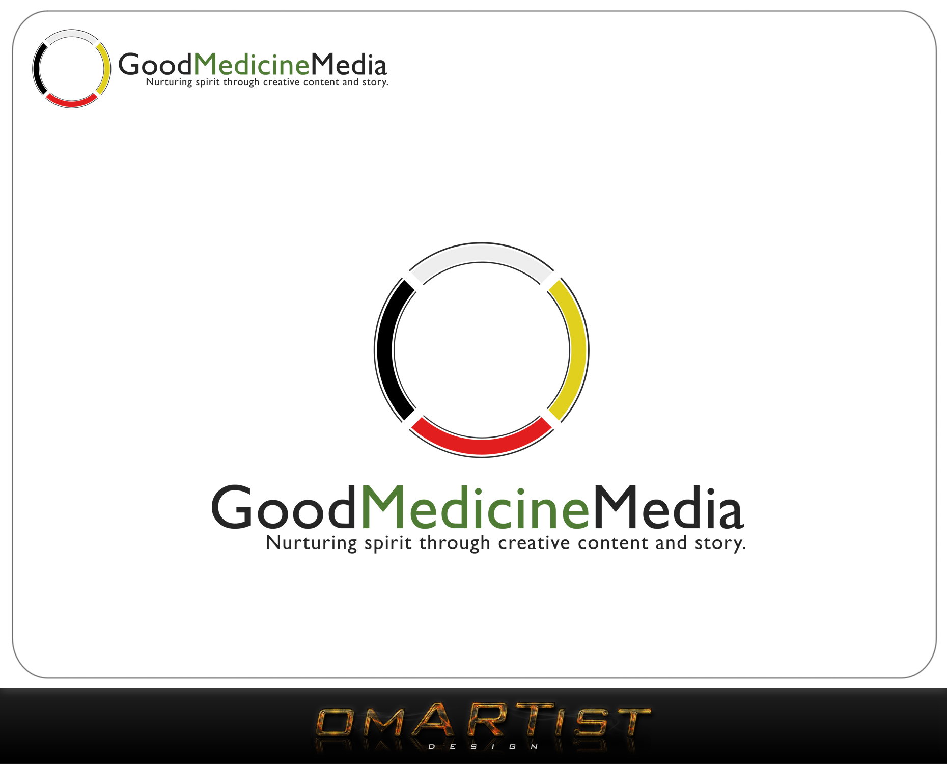Logo Design by omARTist - Entry No. 191 in the Logo Design Contest Good Medicine Media Logo Design.
