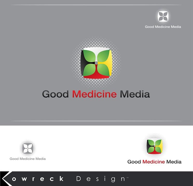 Logo Design by kowreck - Entry No. 196 in the Logo Design Contest Good Medicine Media Logo Design.