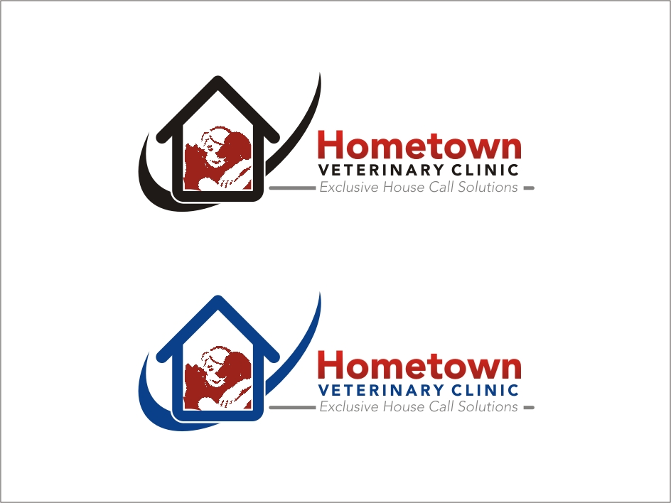 Logo Design by RED HORSE design studio - Entry No. 34 in the Logo Design Contest Captivating Logo Design for Hometown Veterinary Clinic.