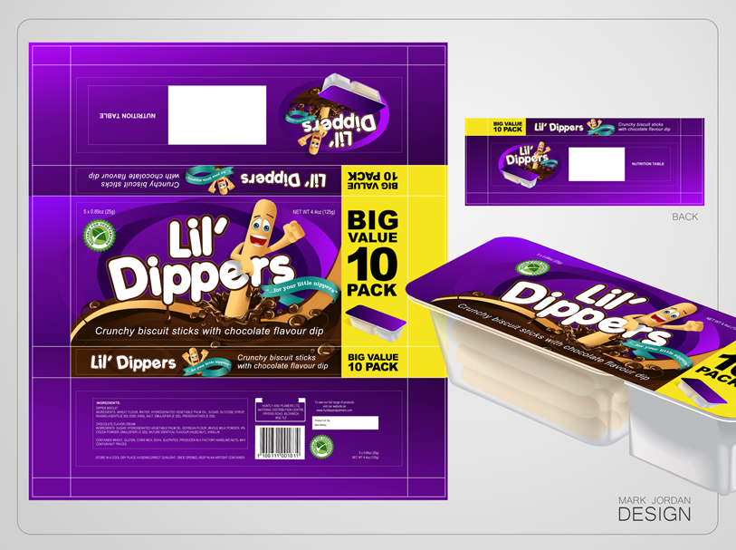 Packaging Design by Mark Anthony Moreto Jordan - Entry No. 36 in the Packaging Design Contest Inspiring Packaging Design for Lil' Dippers.