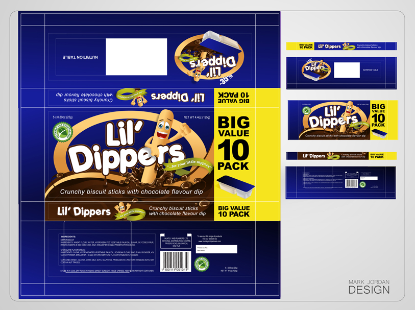 Packaging Design by Mark Anthony Moreto Jordan - Entry No. 37 in the Packaging Design Contest Inspiring Packaging Design for Lil' Dippers.