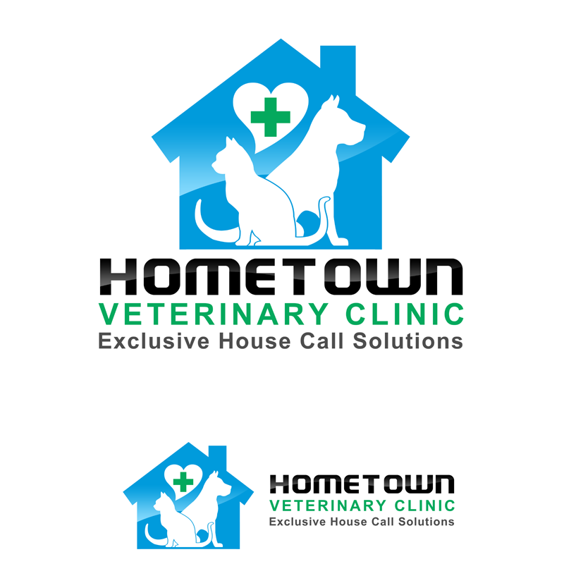 Logo Design by Private User - Entry No. 36 in the Logo Design Contest Captivating Logo Design for Hometown Veterinary Clinic.