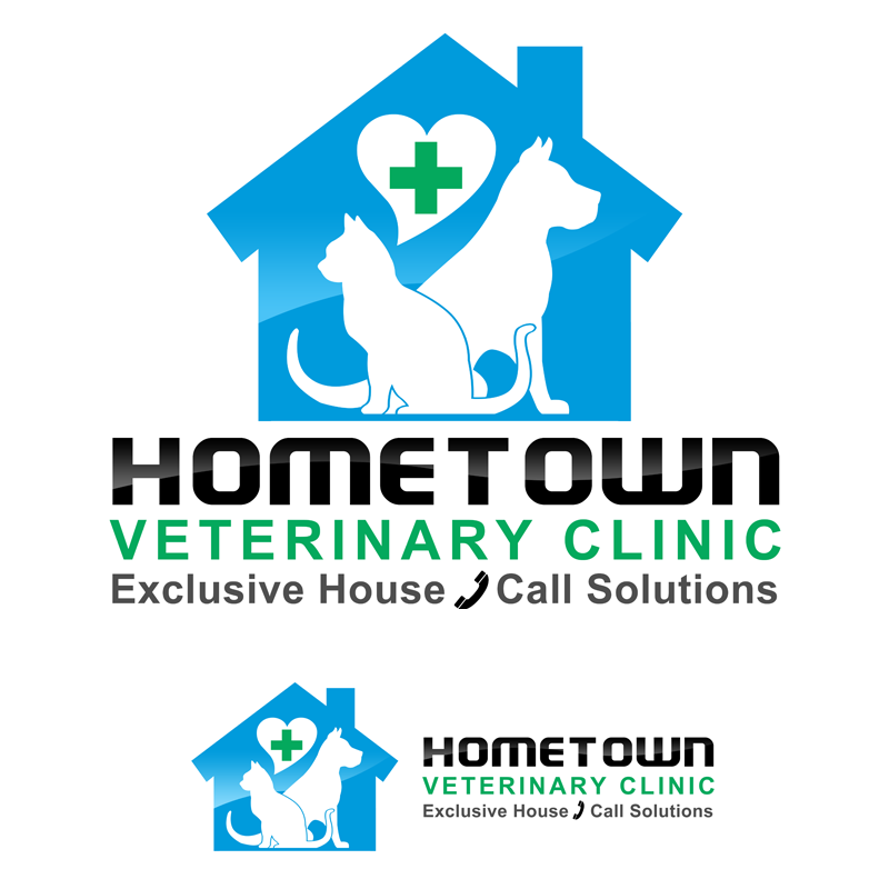 Logo Design by Private User - Entry No. 37 in the Logo Design Contest Captivating Logo Design for Hometown Veterinary Clinic.