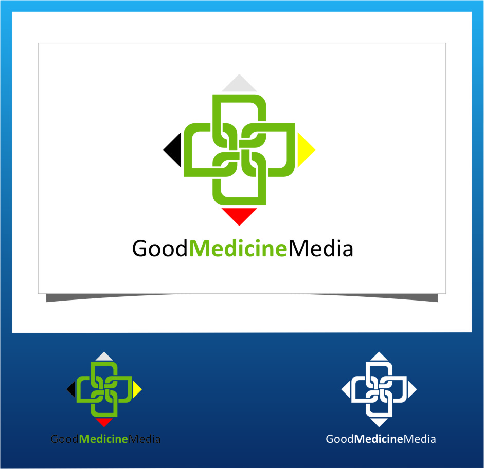 Logo Design by Ngepet_art - Entry No. 198 in the Logo Design Contest Good Medicine Media Logo Design.