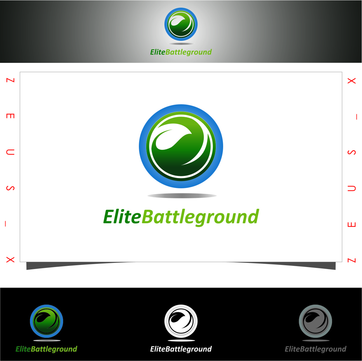 Logo Design by RoSyid Rono-Rene On Java - Entry No. 72 in the Logo Design Contest Creative Logo Design for Elite Battlegrounds.