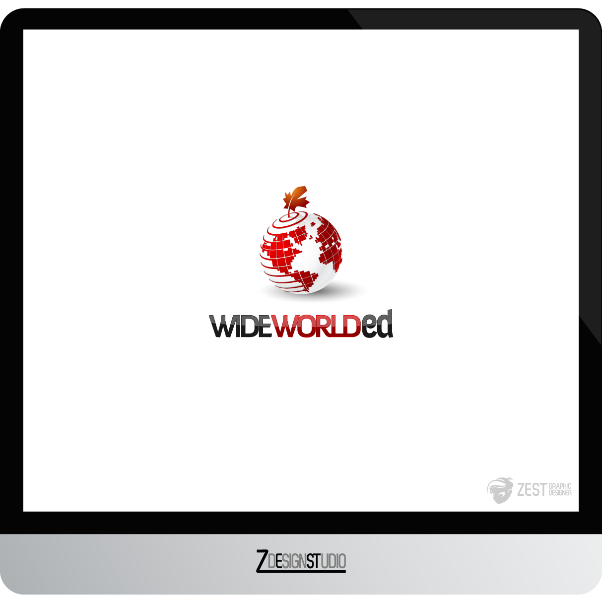 Logo Design by zesthar - Entry No. 31 in the Logo Design Contest New Logo Design for Wide World Ed.