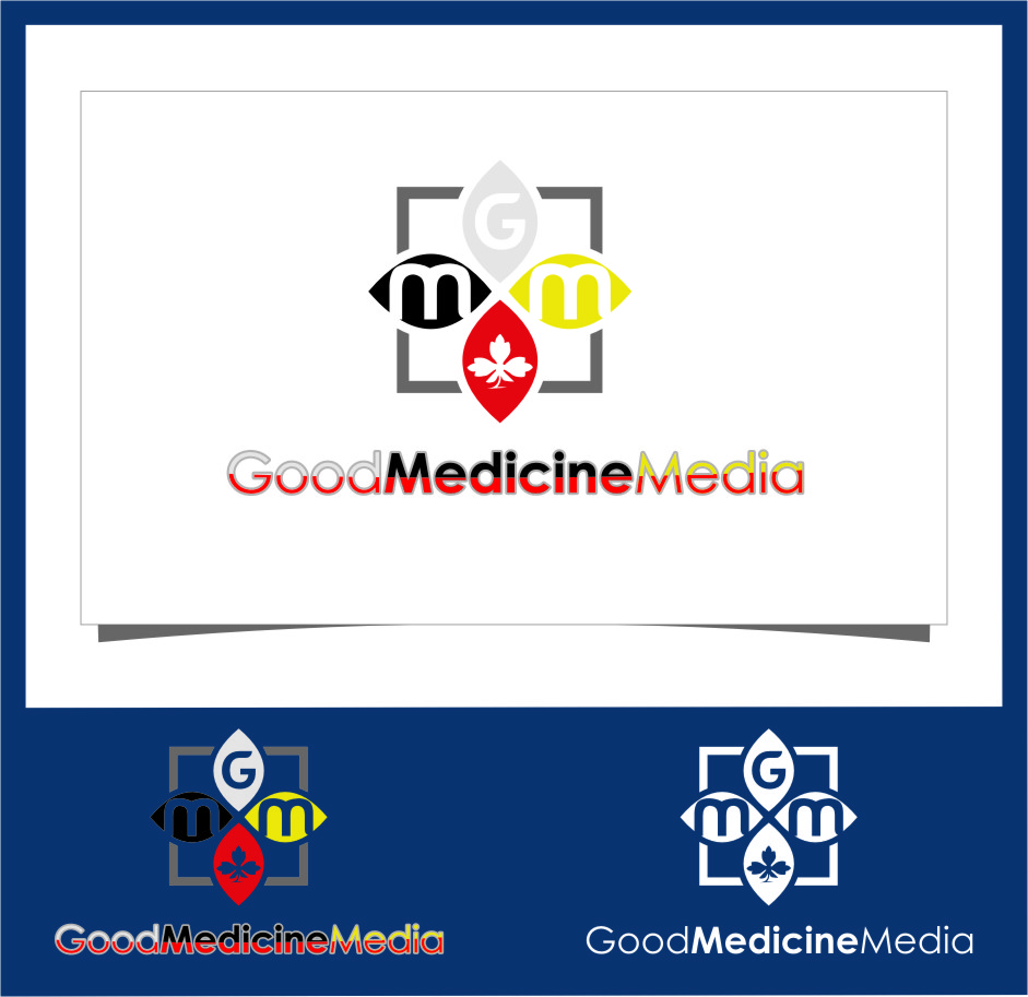 Logo Design by RasYa Muhammad Athaya - Entry No. 200 in the Logo Design Contest Good Medicine Media Logo Design.