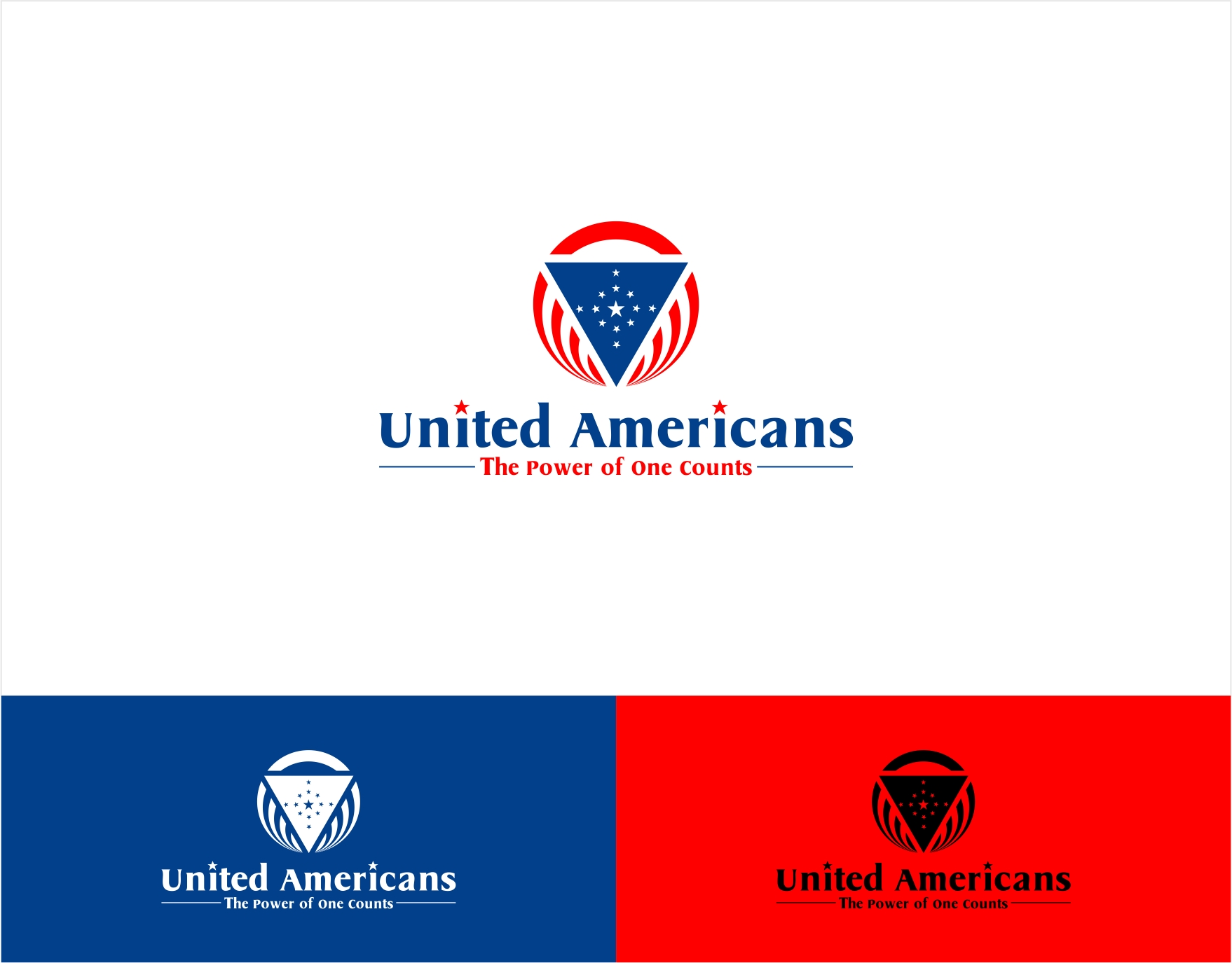 Logo Design by haidu - Entry No. 72 in the Logo Design Contest Creative Logo Design for United Americans.