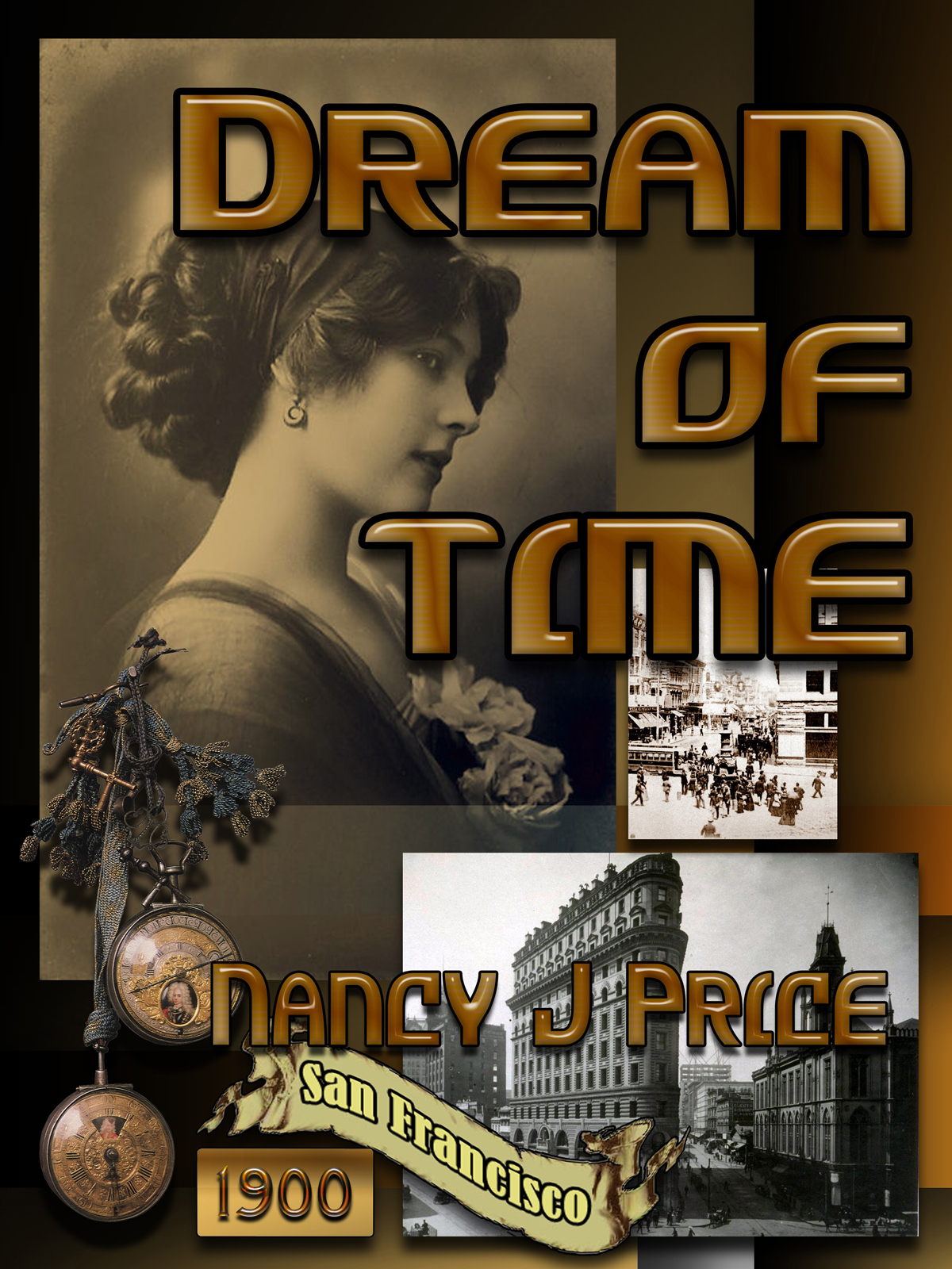 Book Cover Design by MITUCA ANDREI - Entry No. 6 in the Book Cover Design Contest Fun Book Cover Design for Dream of Time.
