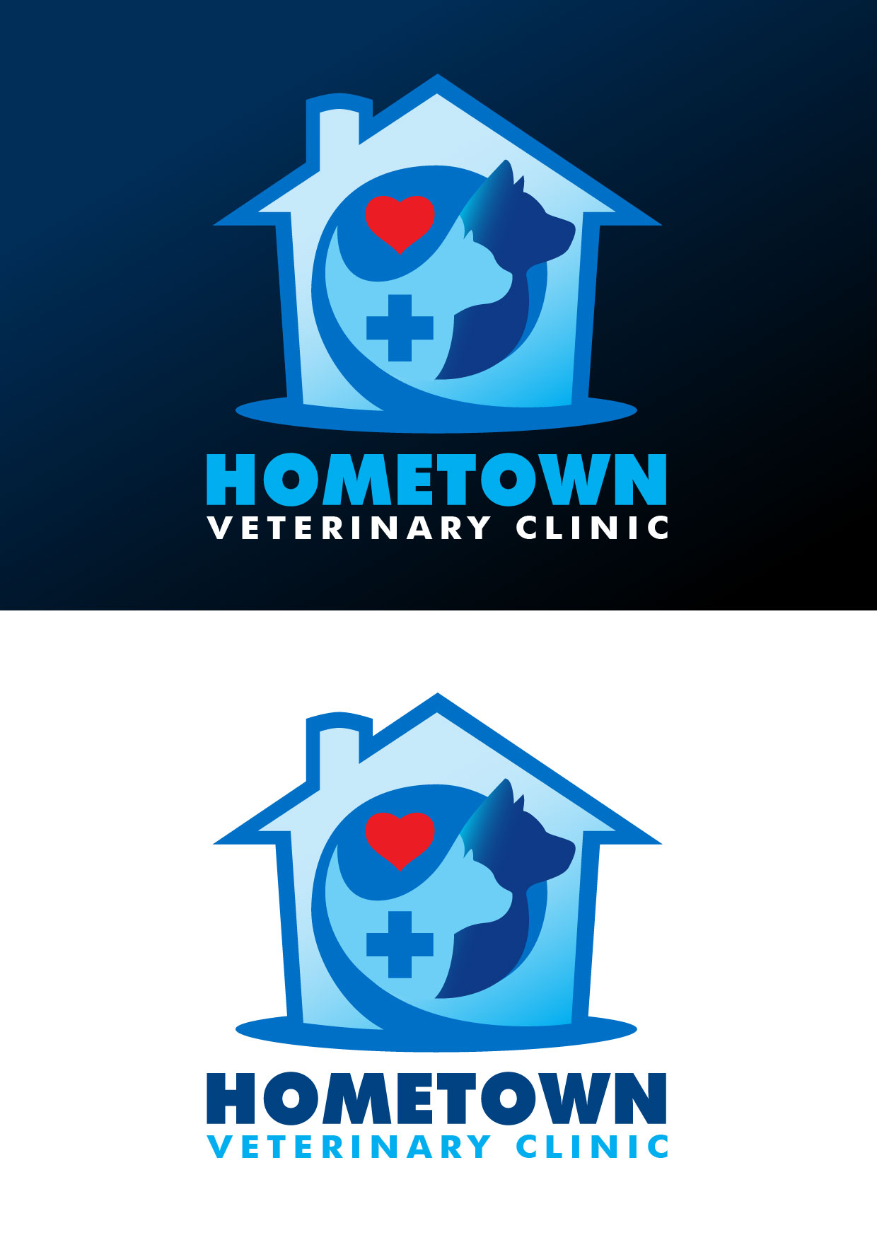 Logo Design by Emil Angelo Osias - Entry No. 41 in the Logo Design Contest Captivating Logo Design for Hometown Veterinary Clinic.