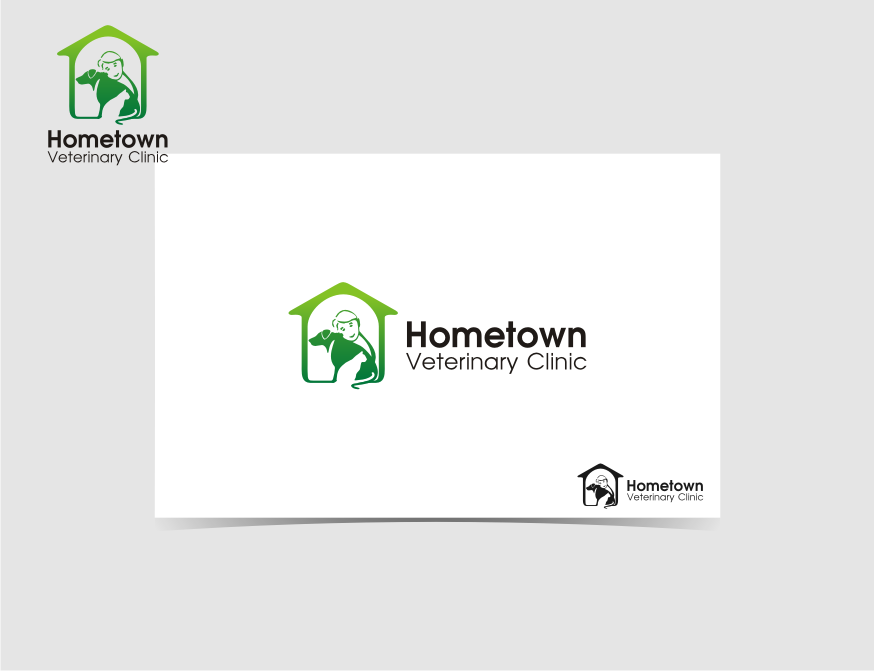 Logo Design by Muhammad Nasrul chasib - Entry No. 43 in the Logo Design Contest Captivating Logo Design for Hometown Veterinary Clinic.