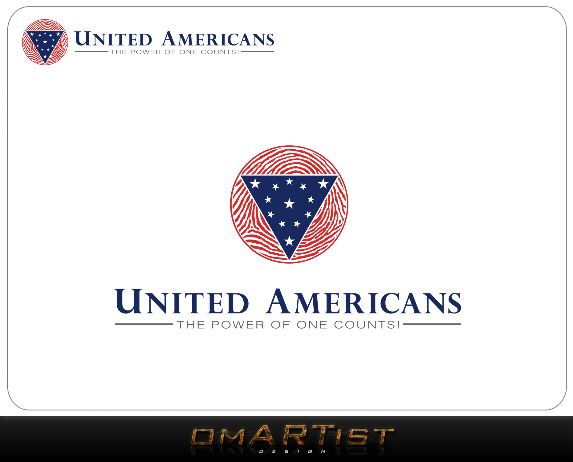 Logo Design by omARTist - Entry No. 84 in the Logo Design Contest Creative Logo Design for United Americans.