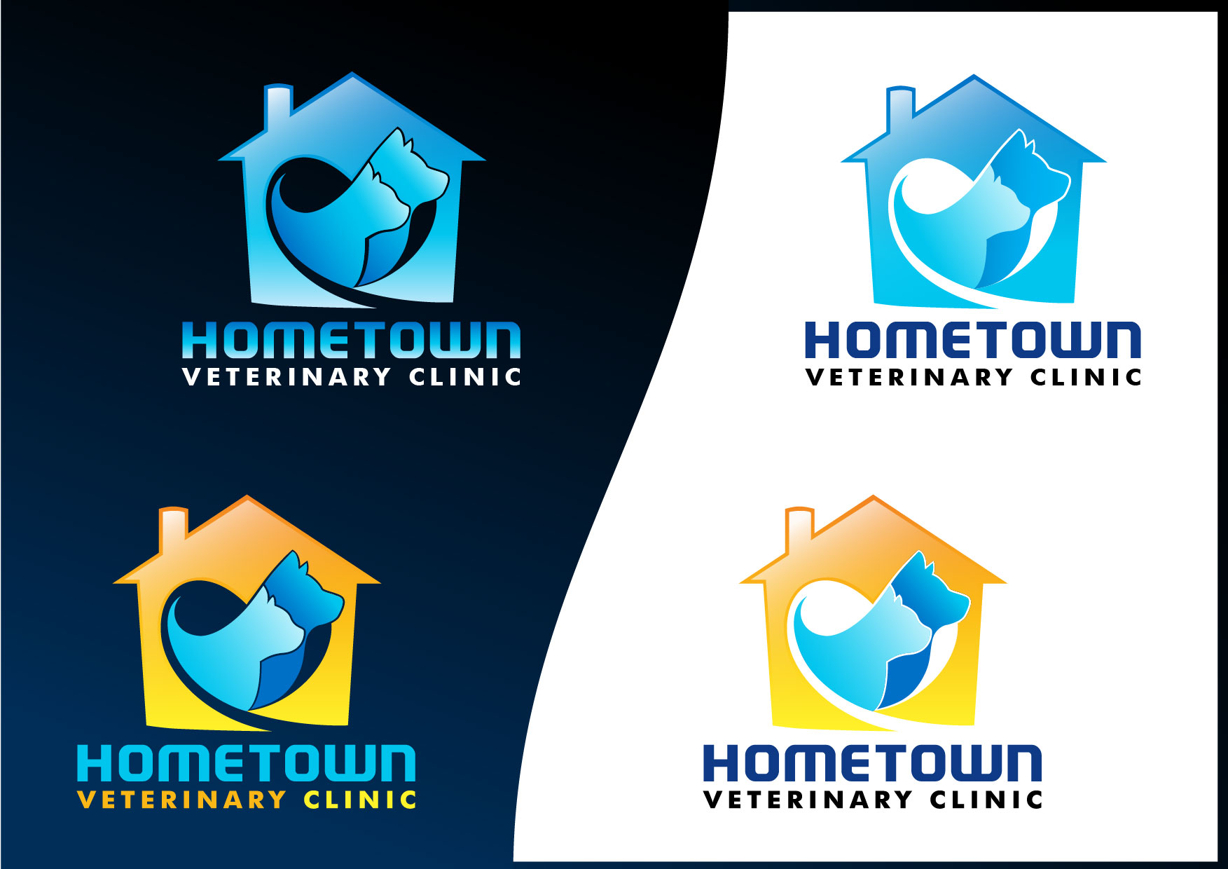 Logo Design by Emil Angelo Osias - Entry No. 44 in the Logo Design Contest Captivating Logo Design for Hometown Veterinary Clinic.