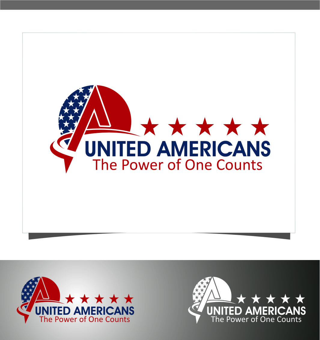 Logo Design by RoSyid Rono-Rene On Java - Entry No. 88 in the Logo Design Contest Creative Logo Design for United Americans.