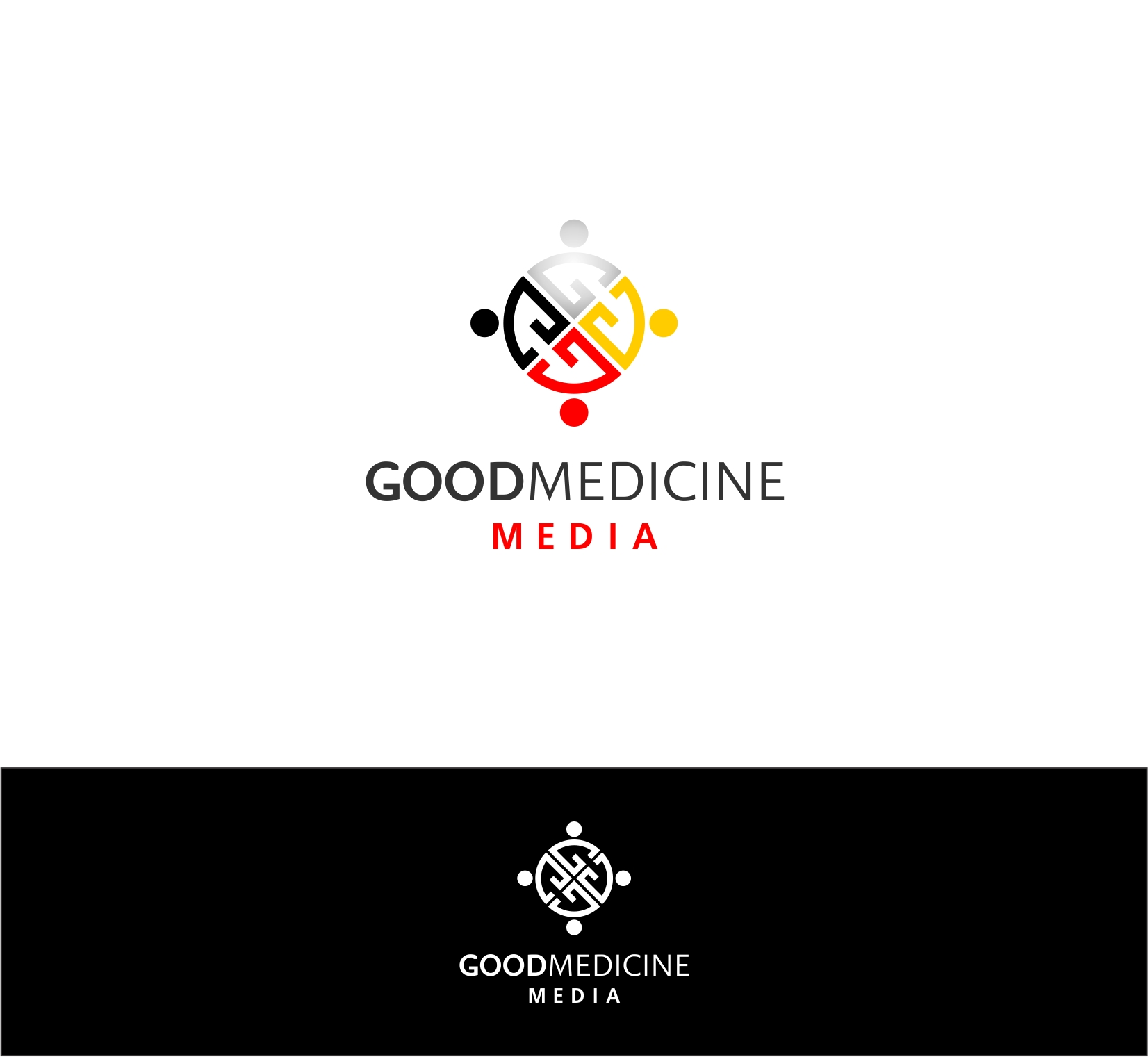 Logo Design by haidu - Entry No. 204 in the Logo Design Contest Good Medicine Media Logo Design.