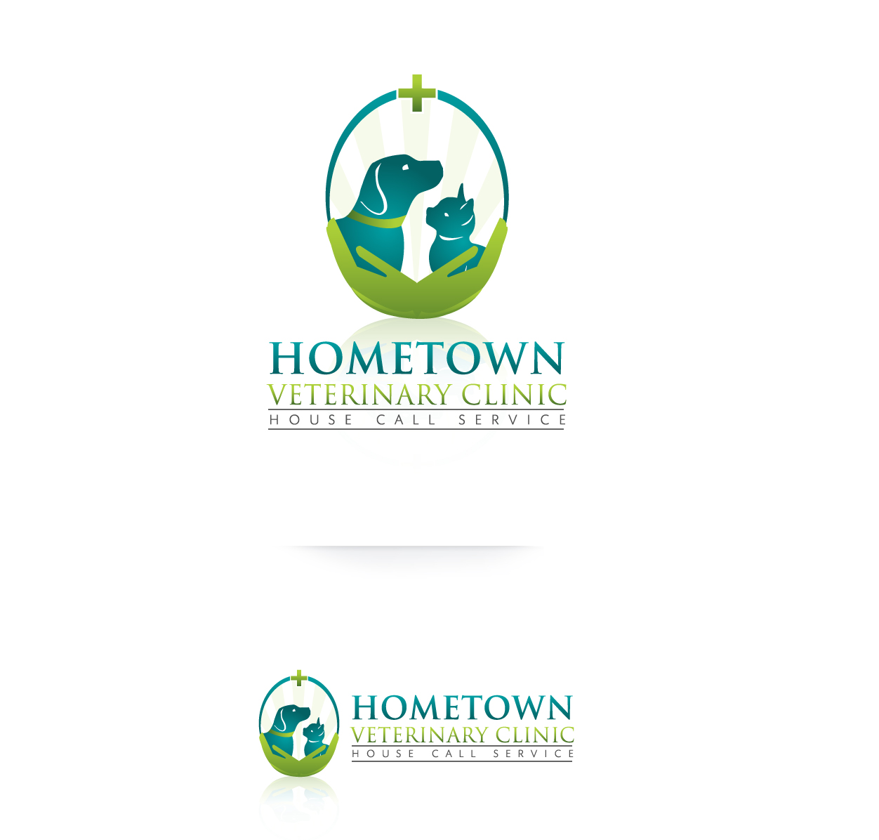 Logo Design by Tarek Khenfir - Entry No. 46 in the Logo Design Contest Captivating Logo Design for Hometown Veterinary Clinic.