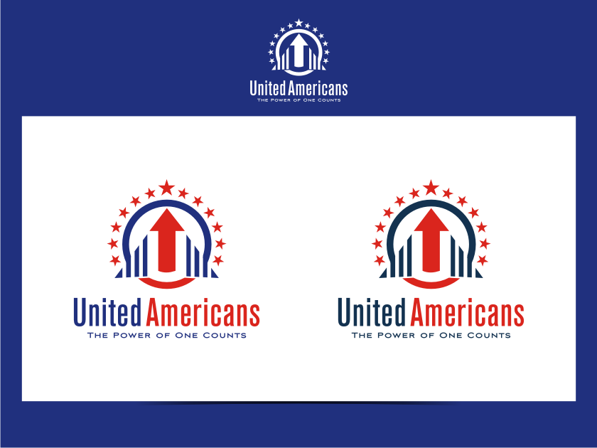 Logo Design by graphicleaf - Entry No. 93 in the Logo Design Contest Creative Logo Design for United Americans.