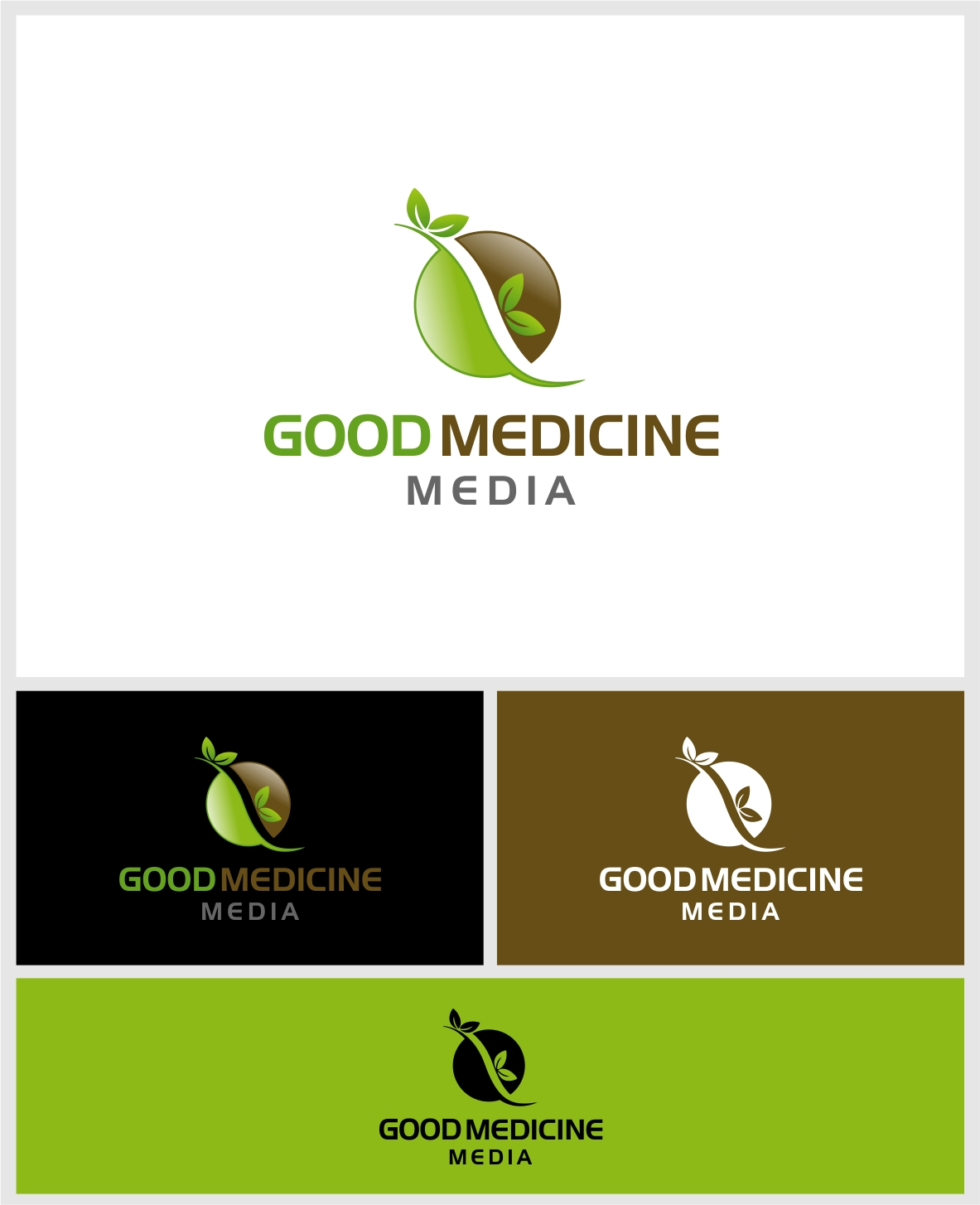 Logo Design by haidu - Entry No. 207 in the Logo Design Contest Good Medicine Media Logo Design.