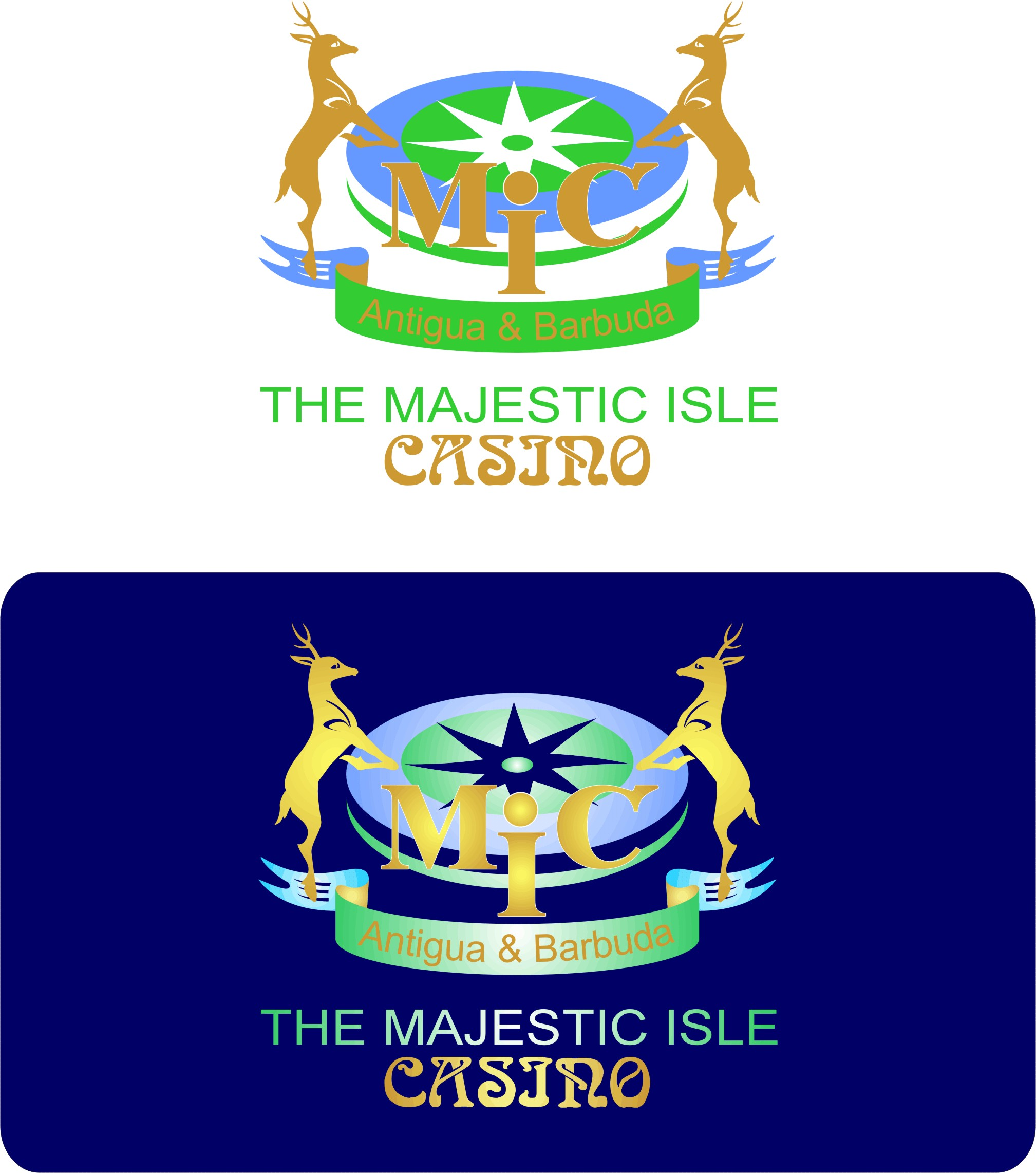 Logo Design by Korsunov Oleg - Entry No. 22 in the Logo Design Contest New Logo Design for The Majestic Isle Casino.