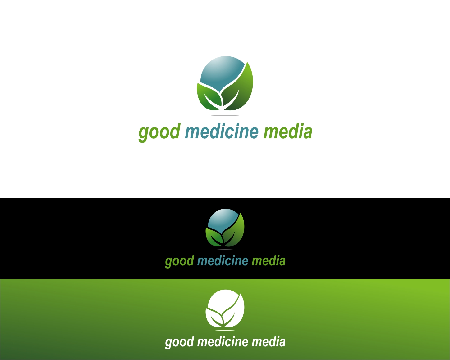 Logo Design by haidu - Entry No. 209 in the Logo Design Contest Good Medicine Media Logo Design.