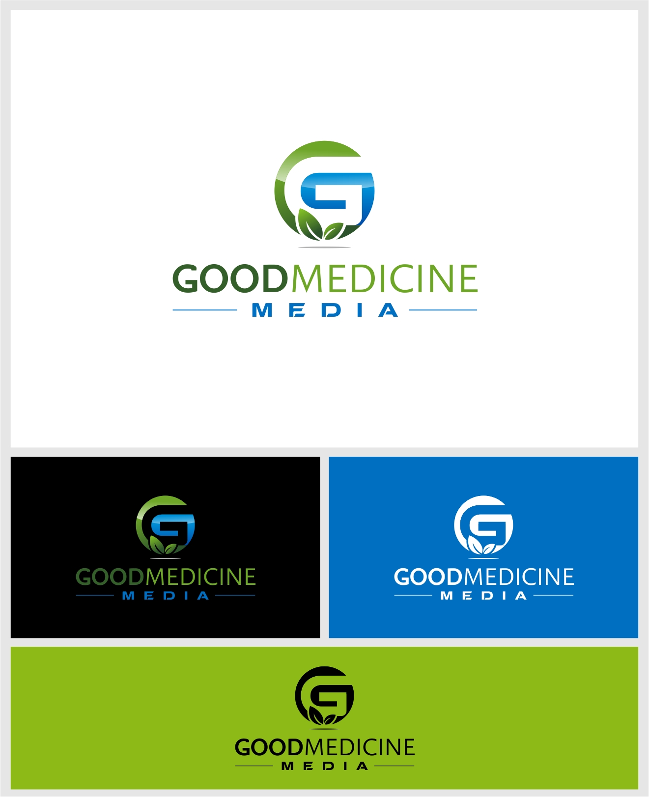 Logo Design by haidu - Entry No. 212 in the Logo Design Contest Good Medicine Media Logo Design.