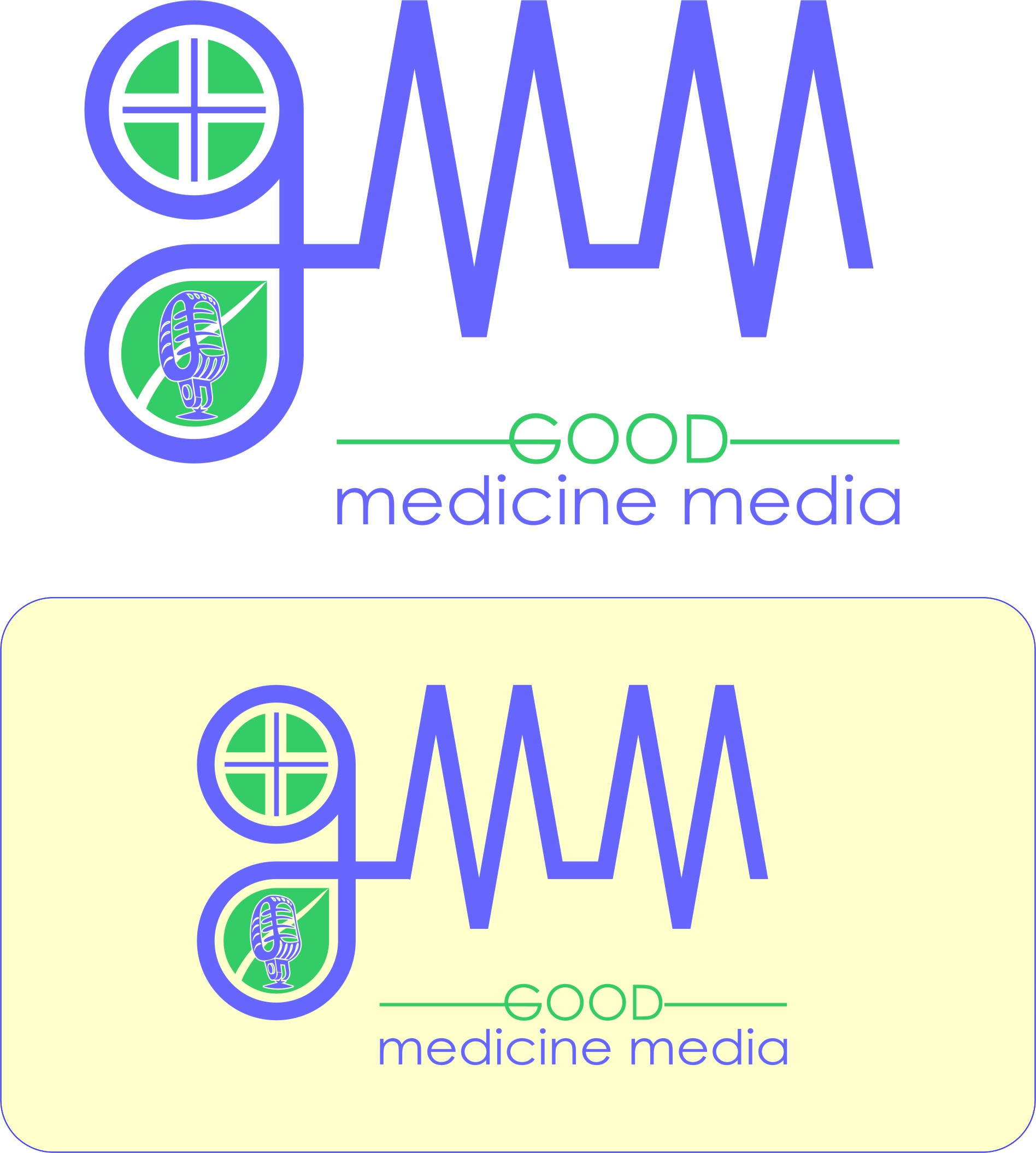 Logo Design by Korsunov Oleg - Entry No. 213 in the Logo Design Contest Good Medicine Media Logo Design.