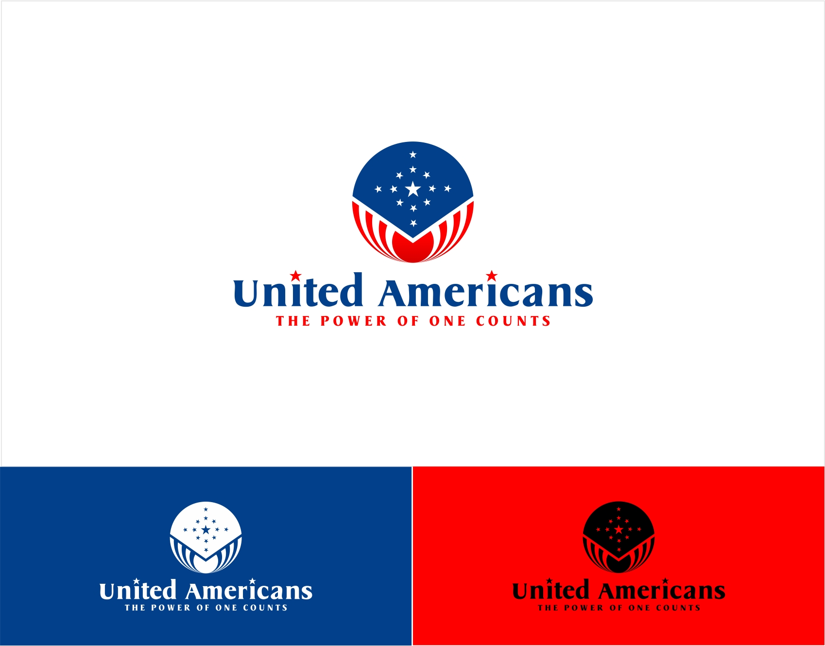 Logo Design by haidu - Entry No. 95 in the Logo Design Contest Creative Logo Design for United Americans.