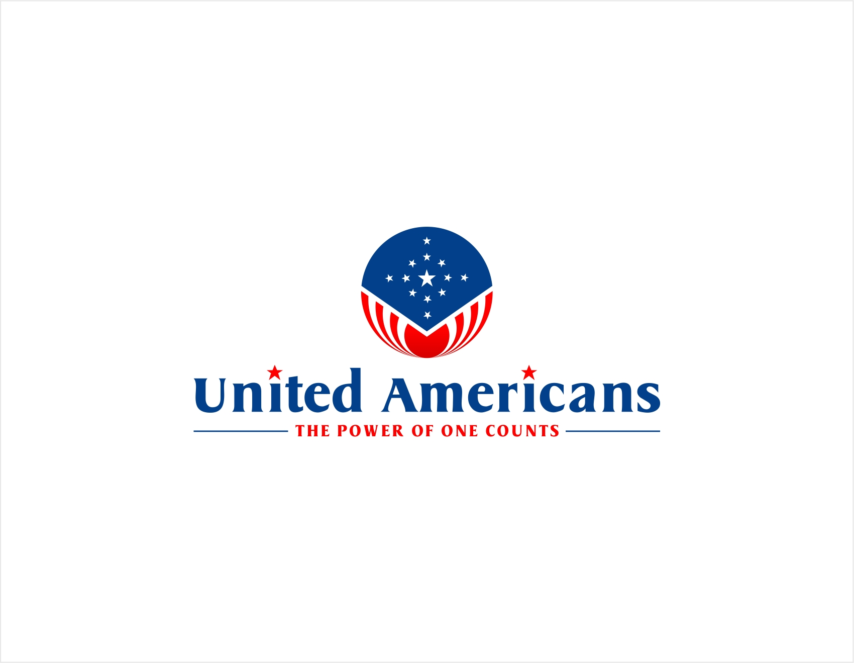 Logo Design by haidu - Entry No. 96 in the Logo Design Contest Creative Logo Design for United Americans.