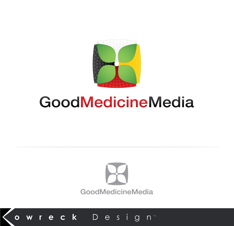 Logo Design by kowreck - Entry No. 214 in the Logo Design Contest Good Medicine Media Logo Design.