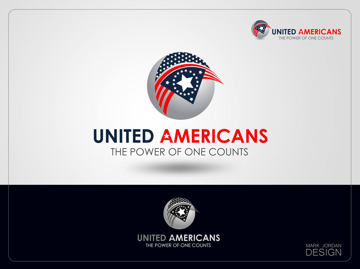 Logo Design by Mark Anthony Moreto Jordan - Entry No. 97 in the Logo Design Contest Creative Logo Design for United Americans.