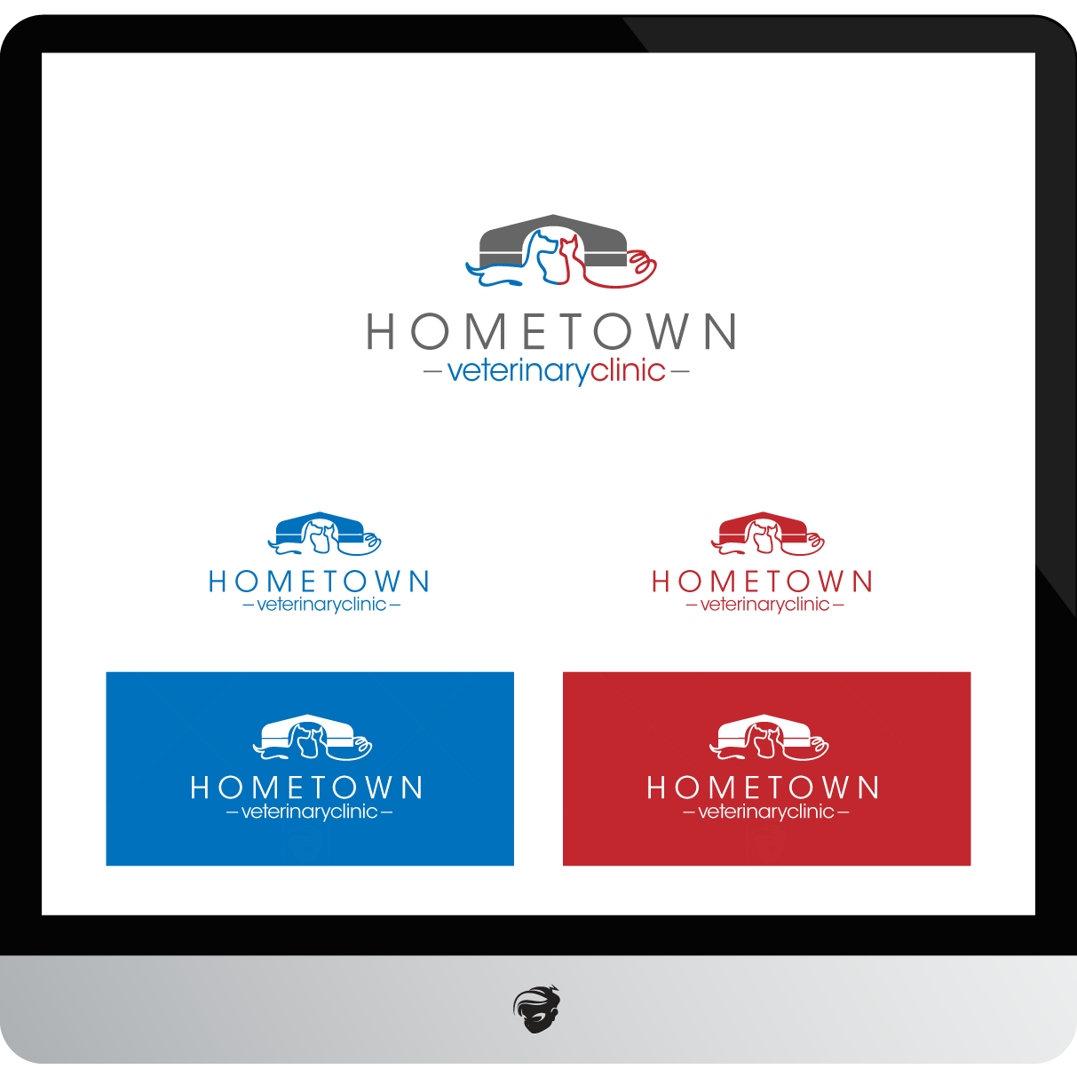 Logo Design by zesthar - Entry No. 48 in the Logo Design Contest Captivating Logo Design for Hometown Veterinary Clinic.