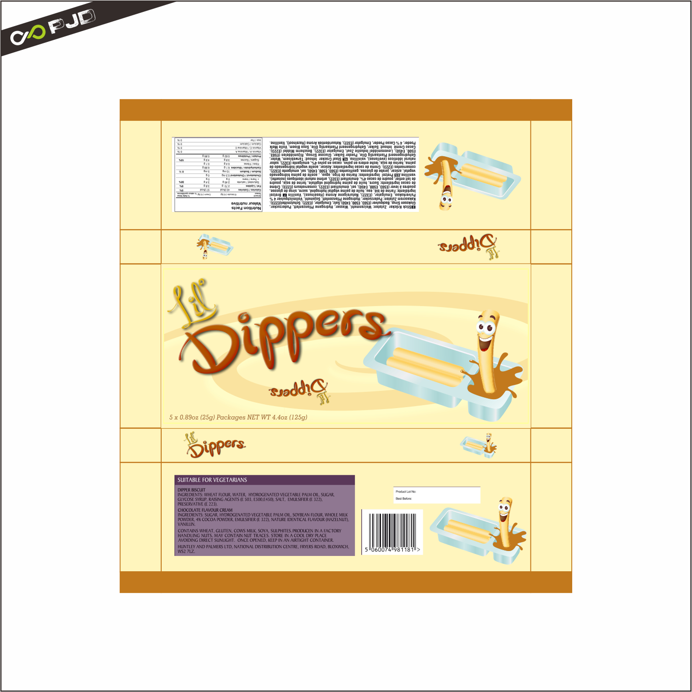 Packaging Design by PJD - Entry No. 51 in the Packaging Design Contest Inspiring Packaging Design for Lil' Dippers.
