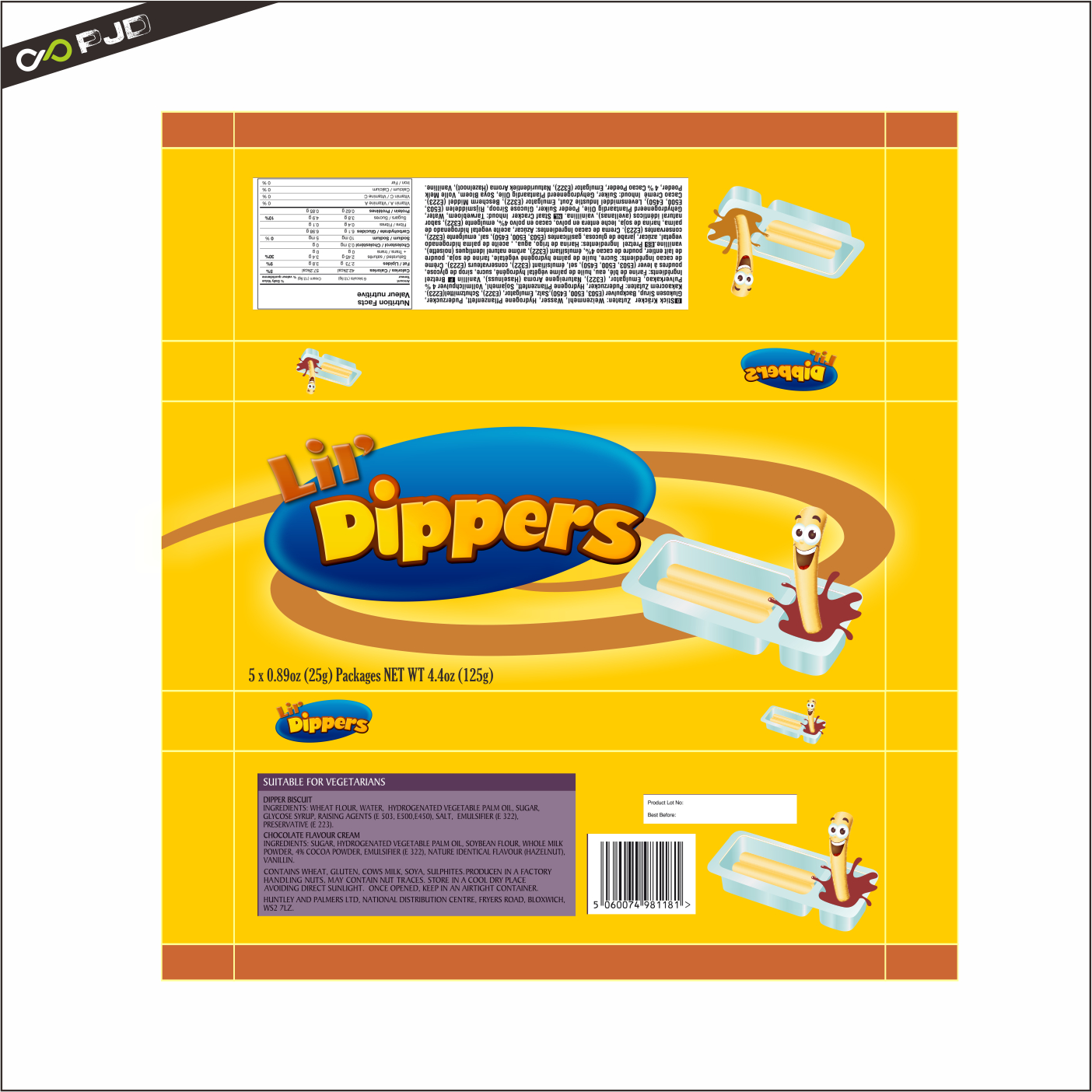 Packaging Design by PJD - Entry No. 53 in the Packaging Design Contest Inspiring Packaging Design for Lil' Dippers.