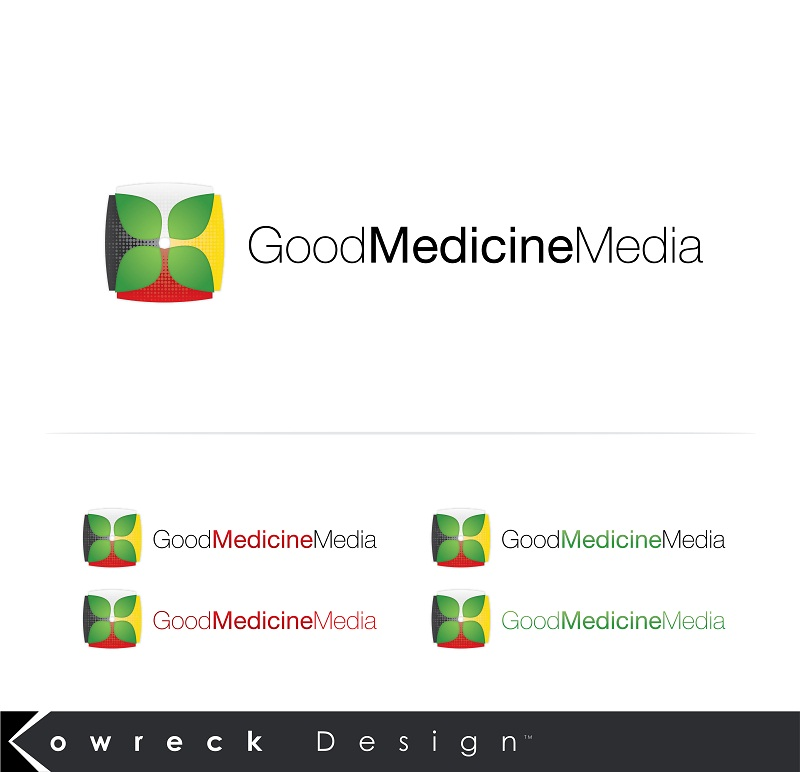 Logo Design by kowreck - Entry No. 222 in the Logo Design Contest Good Medicine Media Logo Design.
