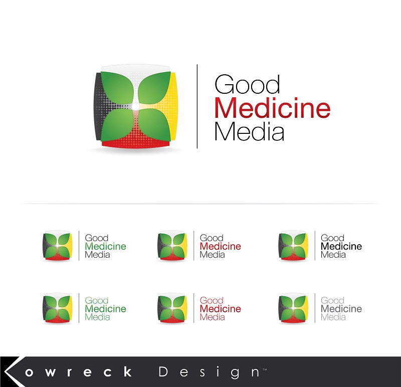 Logo Design by kowreck - Entry No. 223 in the Logo Design Contest Good Medicine Media Logo Design.