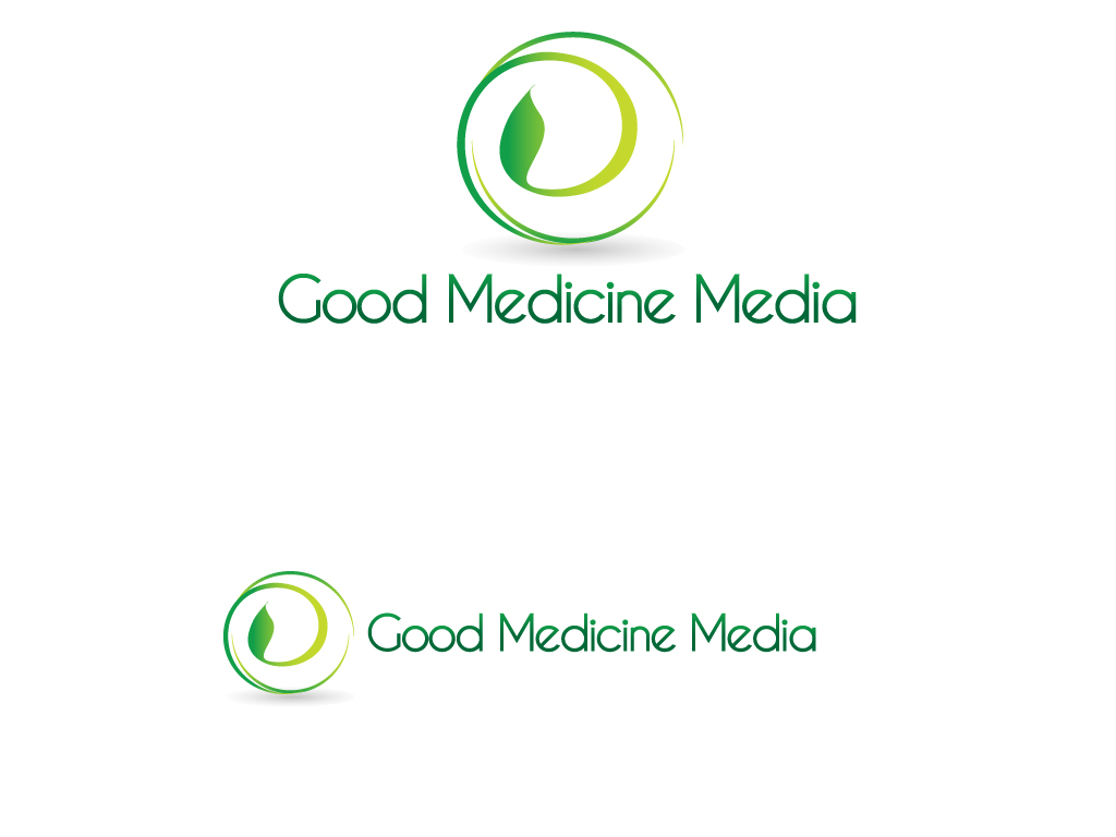 Logo Design by Jagdeep Singh - Entry No. 224 in the Logo Design Contest Good Medicine Media Logo Design.