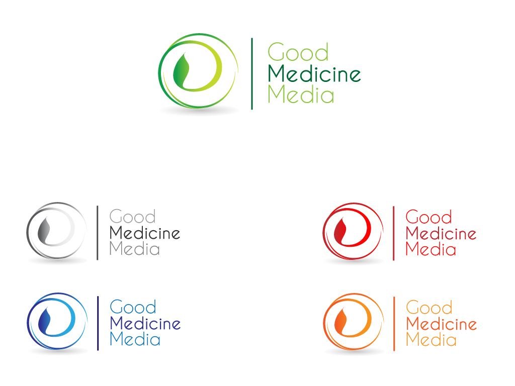 Logo Design by Jagdeep Singh - Entry No. 225 in the Logo Design Contest Good Medicine Media Logo Design.