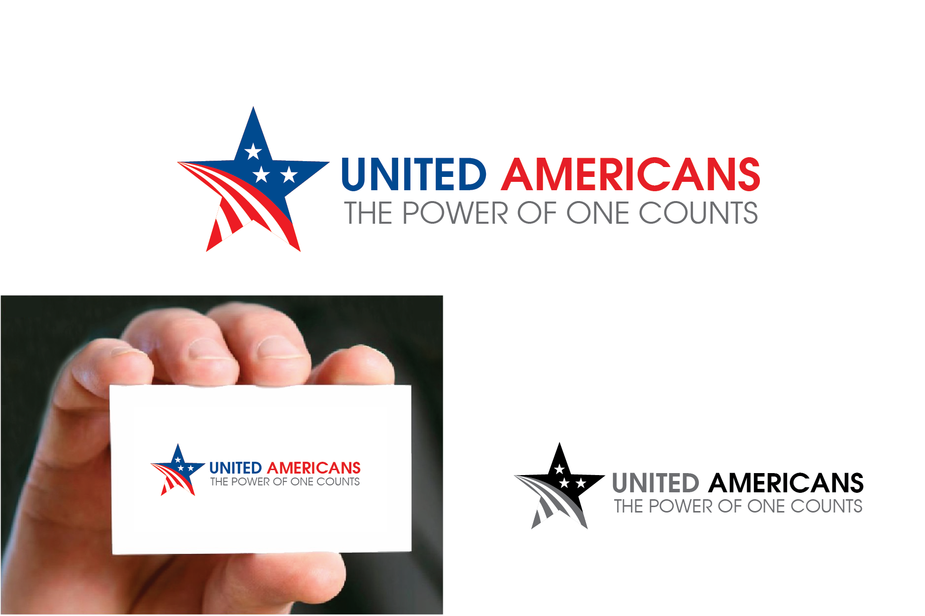 Logo Design by Private User - Entry No. 102 in the Logo Design Contest Creative Logo Design for United Americans.