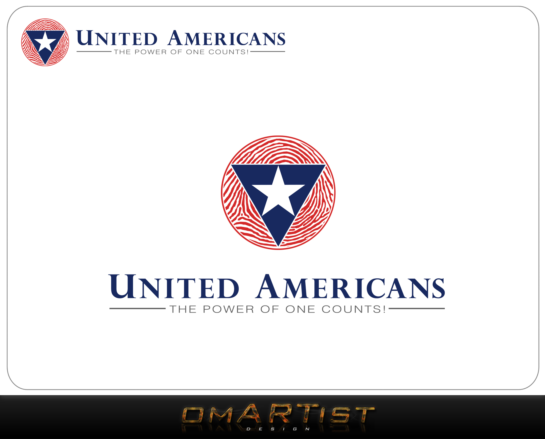 Logo Design by omARTist - Entry No. 103 in the Logo Design Contest Creative Logo Design for United Americans.