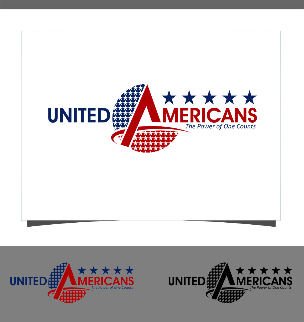 Logo Design by RoSyid Rono-Rene On Java - Entry No. 106 in the Logo Design Contest Creative Logo Design for United Americans.