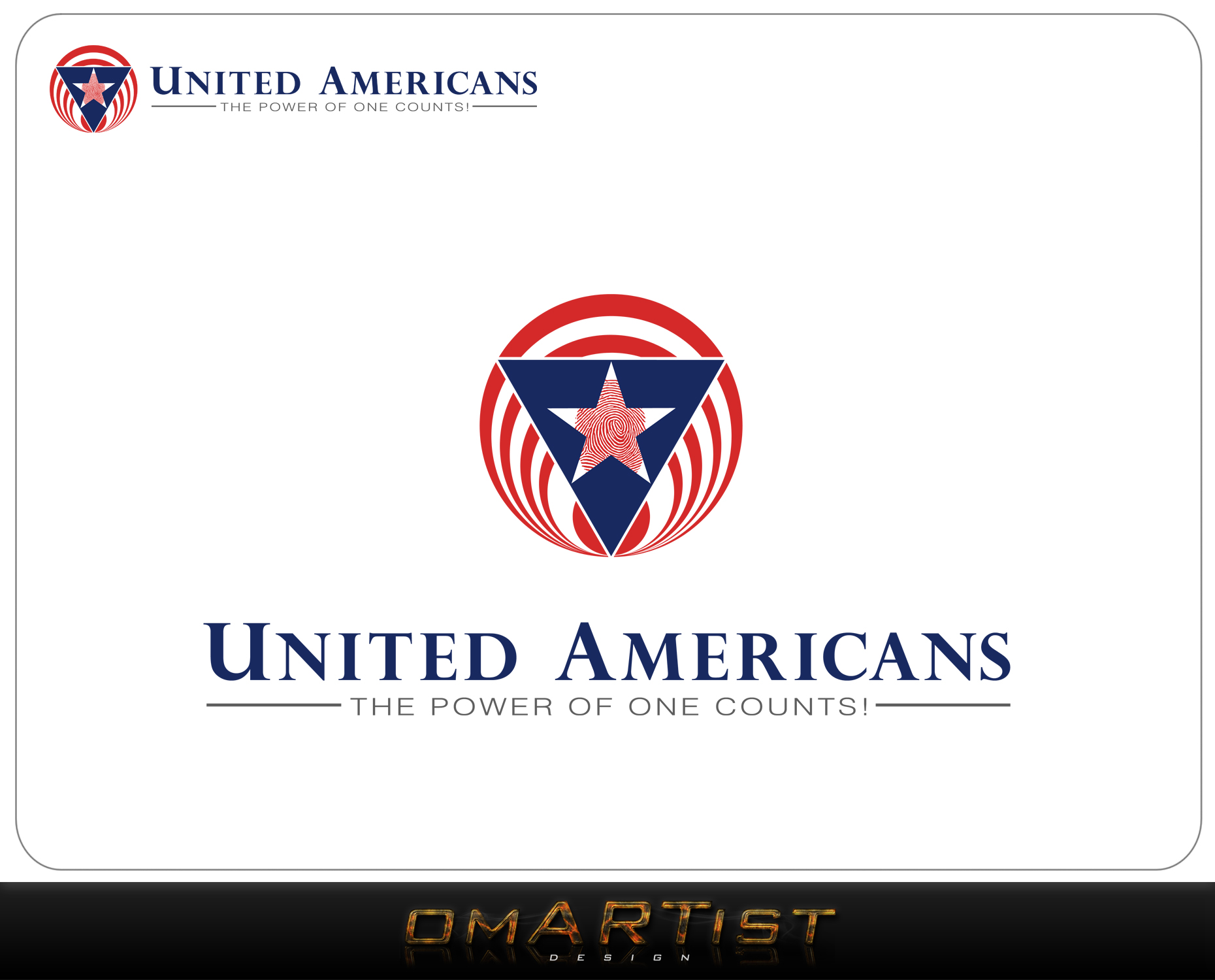 Logo Design by omARTist - Entry No. 107 in the Logo Design Contest Creative Logo Design for United Americans.