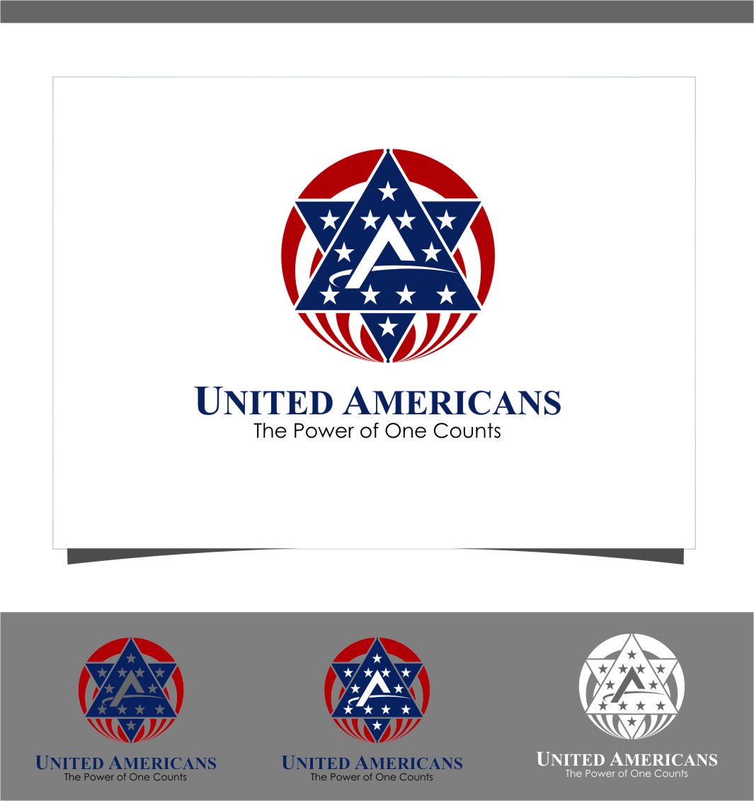 Logo Design by Ngepet_art - Entry No. 109 in the Logo Design Contest Creative Logo Design for United Americans.