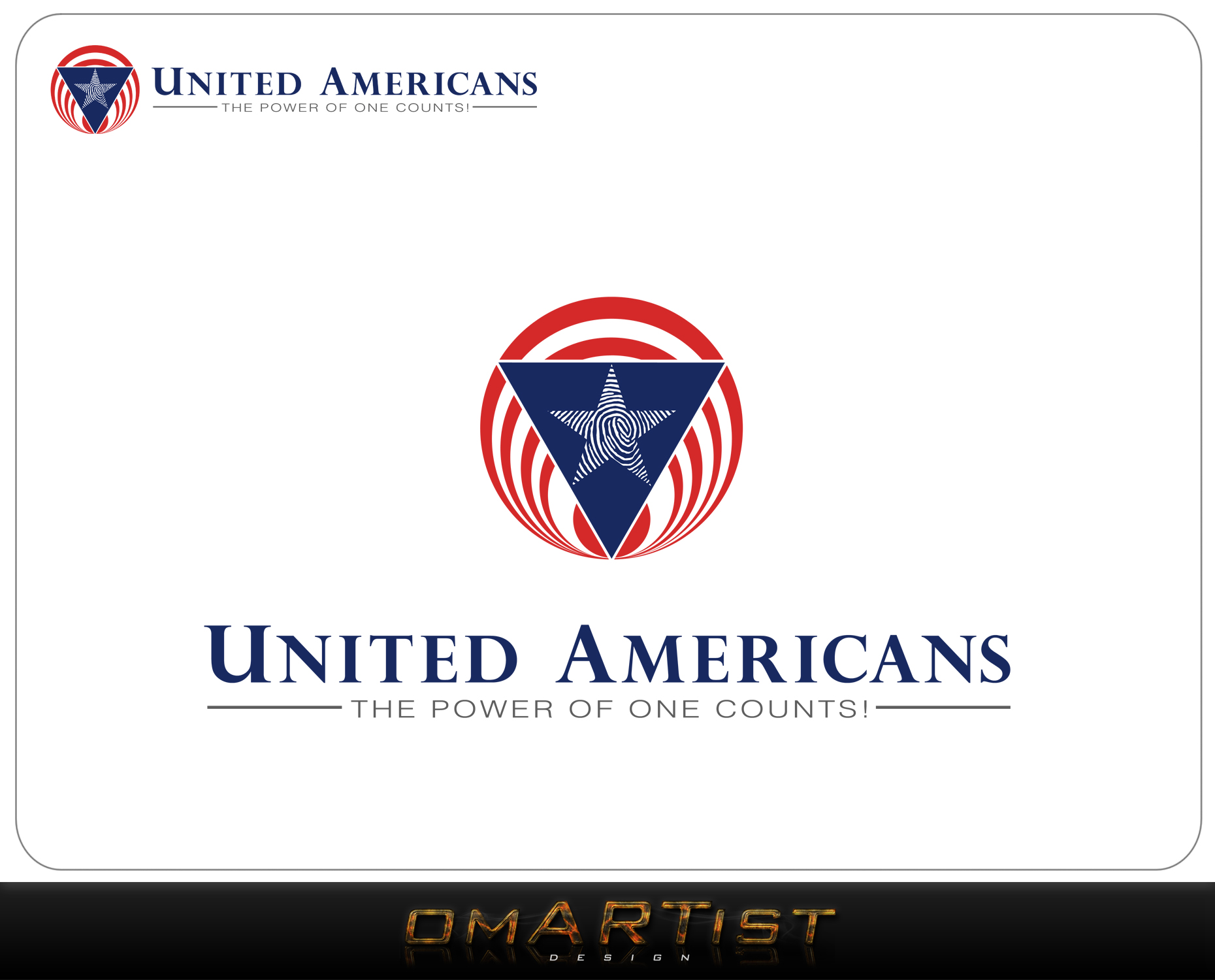 Logo Design by omARTist - Entry No. 110 in the Logo Design Contest Creative Logo Design for United Americans.