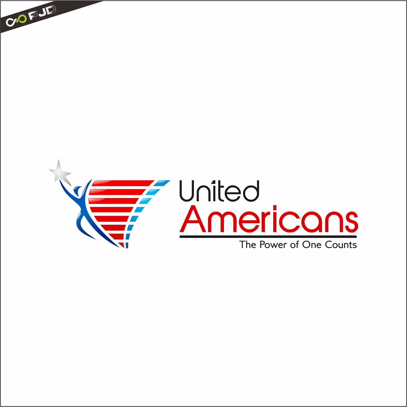 Logo Design by PJD - Entry No. 127 in the Logo Design Contest Creative Logo Design for United Americans.