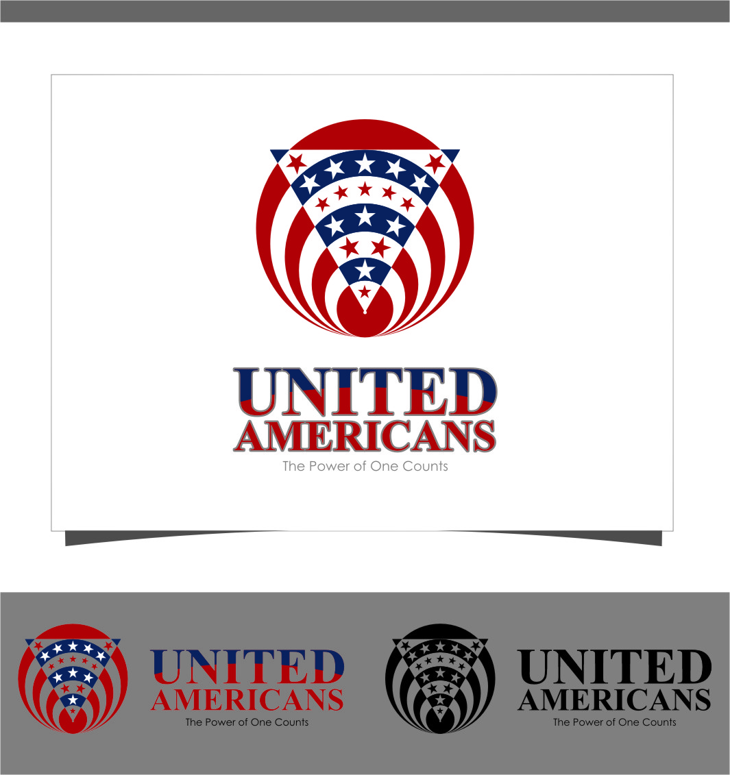 Logo Design by Ngepet_art - Entry No. 128 in the Logo Design Contest Creative Logo Design for United Americans.