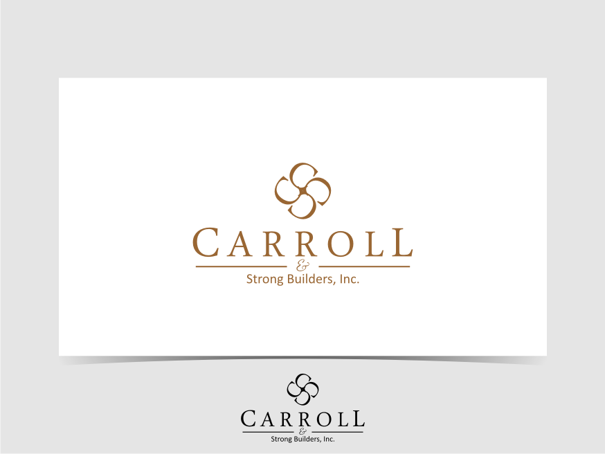 Logo Design by graphicleaf - Entry No. 62 in the Logo Design Contest New Logo Design for Carroll & Strong Builders, Inc..