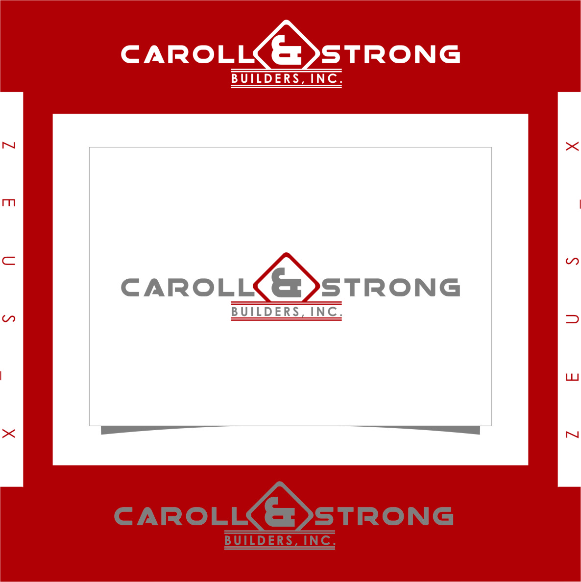 Logo Design by RoSyid Rono-Rene On Java - Entry No. 64 in the Logo Design Contest New Logo Design for Carroll & Strong Builders, Inc..