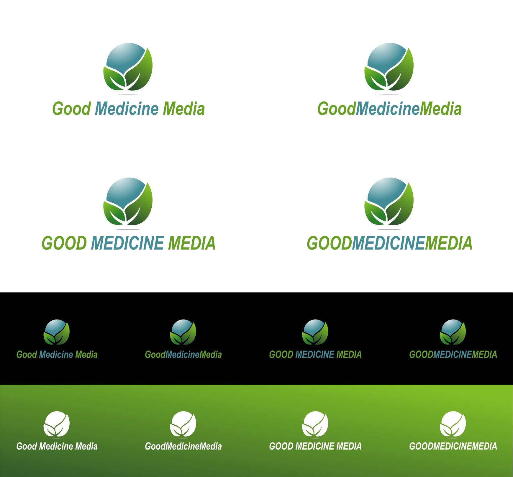 Logo Design by haidu - Entry No. 231 in the Logo Design Contest Good Medicine Media Logo Design.